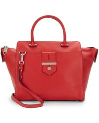 Milly Bradley Leather Tote - Lyst