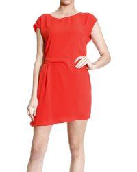 Patrizia Pepe Dress Half Sleeve Jersey With Drapery - Lyst