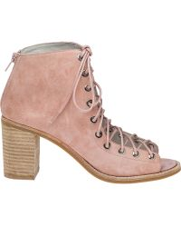 Jeffrey Campbell | Cors Pink Suede Lace-up Bootie | Lyst