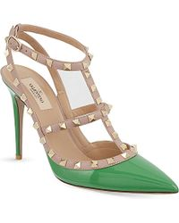 Valentino Rockstud 100 T-Bar Heeled Sandals - Lyst