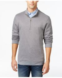 Tricots St Raphael - Herringbone Quarter-zip Mock-neck Sweater - Lyst