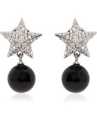 Givenchy Crystal Star Earrings With Pendant - Lyst
