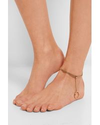 Chloé - Carly Gold-Tone Anklet - Lyst