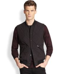 J.Lindeberg Diamond Quilted Tech Vest - Lyst