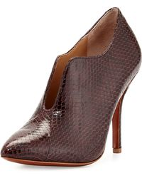 Vince Camuto Signature Carolena Snake-Embossed Leather Pump - Lyst