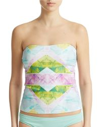 Ivanka Trump - Prism Patterned Swim Top - Lyst