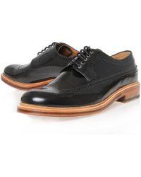 Grenson Black Sid Long Wing Derby Shoes black - Lyst