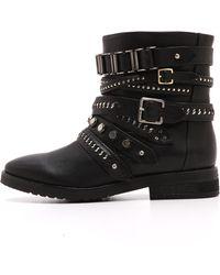 L.a.m.b. Tessa Moto Boots Black - Lyst