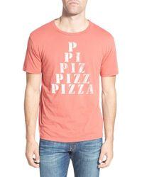 Project Social T - 'pizza' Graphic Crewneck T-shirt - Lyst