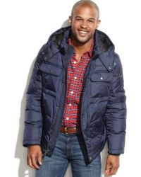 Tommy Hilfiger Puffer Coat with Removable Hood - Lyst