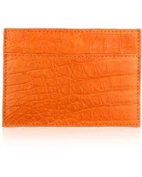 Santiago Gonzalez Crocodile Card Case orange - Lyst