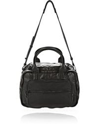 Alexander Wang Eugene Satchel In Washed Black With Iridescent - Lyst