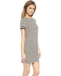 Air By Alice + Olivia - Roll Sleeve Tunic Dress - Pink Sand/Black - Lyst