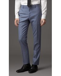 Burberry Slim-Fit Silk, Wool and Linen-Blend Suit - Lyst