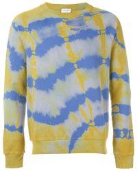 Saint Laurent | Tie Dye Sweatshirt | Lyst
