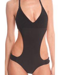 Tori Praver Swimwear Tori Praver Maryjane Monokini black - Lyst