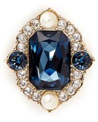St. John - 'Ornate' Swarovski Crystal Brooch - Lyst