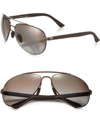 Gucci | 63mm Metal Aviator Sunglasses | Lyst