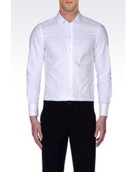 Emporio Armani Slim Fit Oxford Shirt - Lyst