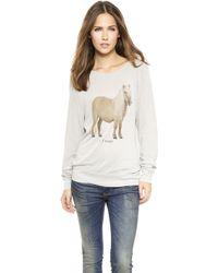 Wildfox The Perfect Gift Baggy Beach Sweatshirt  Morning Mist - Lyst
