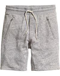 H&M Sweatshirt Shorts gray - Lyst