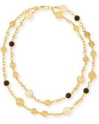 Tory Burch Livia 2-strand Necklace - Lyst