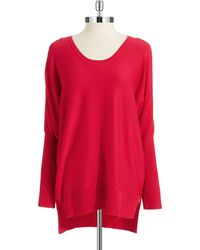 DKNY Zipper Accented Pullover - Lyst