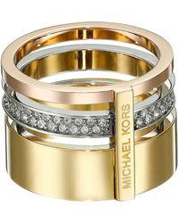 Michael Kors Brilliance Pave Barrel Ring - Lyst