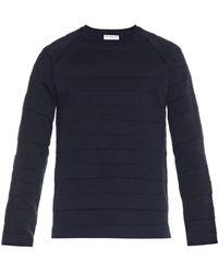 Balenciaga Crew-neck Wool-blend Sweater - Lyst