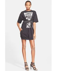 McQ by Alexander McQueen Elastic Detail Graphic Dress - Lyst