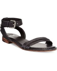 Frye Women'S Phillip Seam Two-Piece Flat Sandals - Lyst