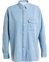 Acne Studios Bleached Denim Shirt - Lyst