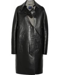 Lanvin Double-breasted Leather Coat - Lyst
