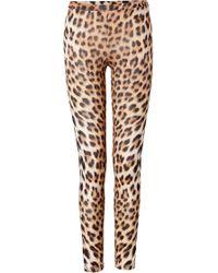 Just Cavalli Leopard Print Leggings - Lyst