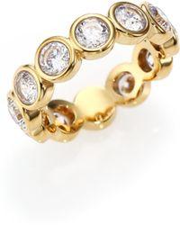 Michael Kors | Park Avenue Glam Jeweled Band Ring/goldtone | Lyst