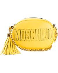 Moschino Oval Logo Crossbody Bag - Lyst