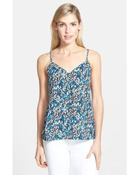 Trouvé Abstract-Print V-Neck Camisole blue - Lyst