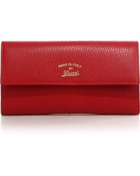 Gucci Swing Leather Continental Wallet red - Lyst