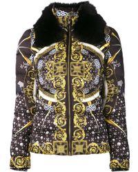 Versace Black Printed Jacket - Lyst
