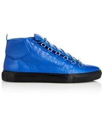 Balenciaga Arena Leather High-Top Sneakers - Lyst