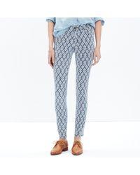 "Madewell - 9"" High Riser Skinny Skinny Jeans In Geometric Indigo - Lyst"