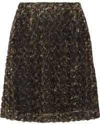 Alice By Temperley Donna Lamé Rosetteappliquéd Tulle Mini Skirt - Lyst