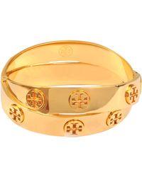 Tory Burch Double-Wrap Metal Logo Bracelet gold - Lyst