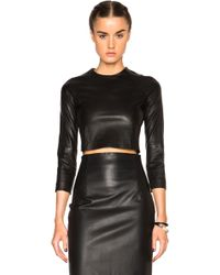ThePerfext - Bronx Leather Crop Top - Lyst