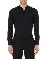 The Kooples Contrasting Mandarin Collar Shirt - For Men - Lyst