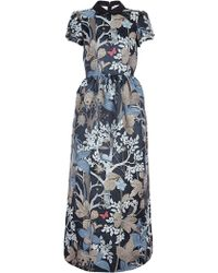RED Valentino Forest Print Full Length Dress - Lyst