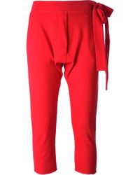 Mm6 By Maison Martin Margiela Cropped Track Pants - Lyst