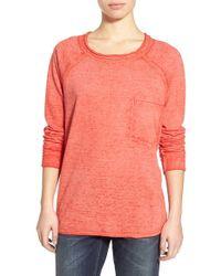 Stem - Burnout Raw Edge Sweatshirt - Lyst