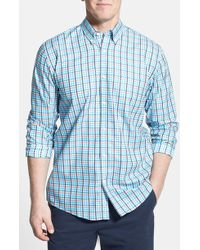 Cutter & Buck 'Spring Hill' Classic Fit Plaid Sport Shirt - Lyst