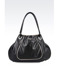 Armani Shoulder Bag In Soft Napa Leather - Lyst